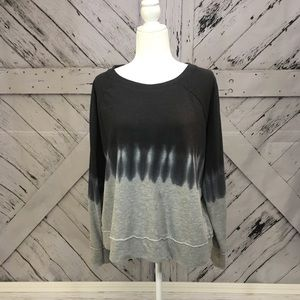 Black and gray Tie Dye Sweatshirt